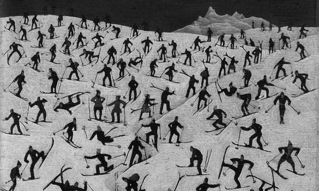"""APARSC03 - 18062009 - BREGENZ - OESTERREICH: ZU APA TEXT KI - """"Uebeungswiese"""" aus dem Jahr 1926 von Franz Sedlacek ist eines der Exponate die im Rahmen der Ausstellung """"Schnee. Rohstoff der Kunst"""" ab 20. Juni im Vorarlberger Landesmuseum zu sehen sein werden. (Nur frei im Zusammenhang mit der Berichterstattung zur Ausstellung!)  APA-FOTO: VORARLBERGER LANDESMUSEUM"""